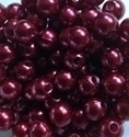 Picture of BD8R5B  8mm DARK RED round plastic beads