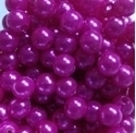 Picture of BD8R4B  8mm DARK PINK opaque round plastic beads