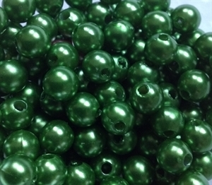 Picture of BD8R9  8mm GREEN opaque round plastic beads