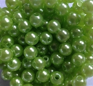 Picture of BD8R9A  8mm LIGHT GREEN opaque round plastic bead