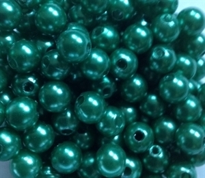 Picture of BD8R9B  8mm DARK GREEN opaque round plastic bead