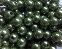 Picture of BD8R9C  8mm KHAKI GREEN opaque round plastic bead