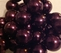 Picture of BD14RM10B  14mm METALLIC DARK PURPLE round plastic beads