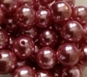 Picture of BD14RM4  14mm METALLIC PINK round plastic beads