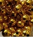 Picture of BD14RM3  14mm METALLIC GOLD round plastic beads