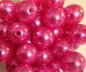 Picture of BD14R4  14mm PINK opaque round plastic beads