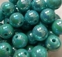 Picture of BD12RR7C  12mm RAINBOW TURQUOISE round plastic beads