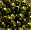 Picture of BD12RM9C  12mm METALLIC KHAKI GREEN round plastic beads
