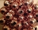 Picture of BD12RM4  12mm pink metallic round plastic beads