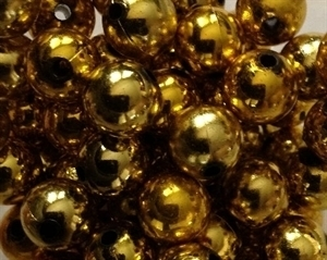Picture of BD12RM3A  12mm METALLIC LIGHT GOLD round plastic beads