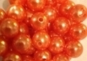 Picture of BD12R8  12mm ORANGE opaque round plastic beads