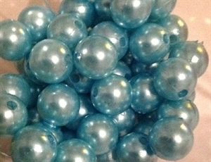 Picture of BD12R7A  12mm LIGHT BLUE opaque round plastic beads