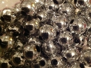 Picture of BD10RM11 10mm METALLIC SILVER  round plastic beads