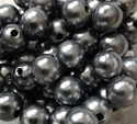 Picture of BD10R12  10mm GRAY opaque round plastic bead