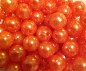 Picture of BD10R8 10mm orange opaque round plastic beads