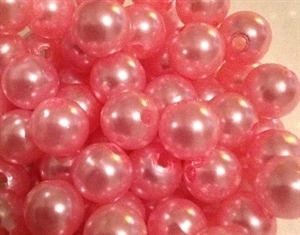 Picture of BD10R4  10mm PINK colored opaque round plastic beads