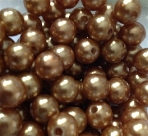 Picture of BD10R3  10mm GOLD colored opaque round plastic beads