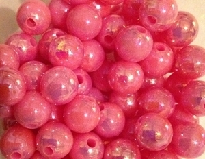 Picture of BD10RR4  10mm RAINBOW PINK colored opaque round plastic beads