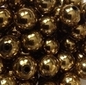 Picture of BD12RM3B  12mm dark gold metallic round plastic beads