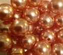 Picture of BD14R13A  14mm LIGHT BROWN opaque round plastic beads