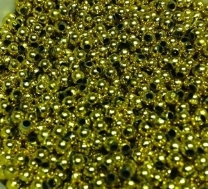 Picture of BD3RM3  3mm METALLIC GOLD round plastic beads
