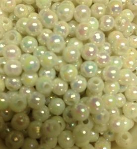 Picture of BD5RR15  5mm RAINBOW WHITE opaque round plastic beads