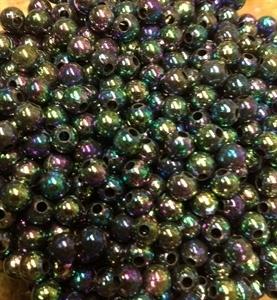 Picture of BD5RR10B  5mm RAINBOW DARK PURPLE round plastic beads