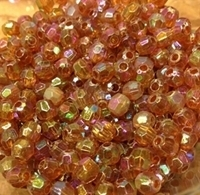 Picture of BD6FR10  6mm RAINBOW PURPLE faceted shaped plastic beads