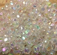 Picture of BD6FR16  6mm RAINBOW CLEAR faceted shaped plastic beads