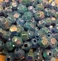 Picture of BD8FR7  8mm rainbow blue faceted shaped plastic beads