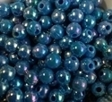 Picture of BD6RR7  6mm RAINBOW BLUE opaque round plastic beads