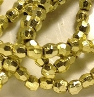 Picture of BD3FM3  3mm METALLIC GOLD faceted shaped plastic beads