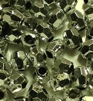 Picture of BD4FM11  4mm METALLIC SILVER faceted shaped bead