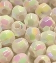 Picture of BD6FR15  6mm RAINBOW WHITE faceted shaped plastic beads