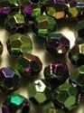 Picture of BD6FR10B  6mm RAINBOW DARK PURPLE faceted shaped plastic beads