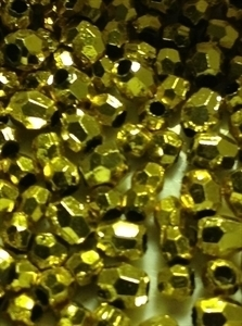 Picture of BD4FM3  4mm METALLIC GOLD faceted shaped plastic beads