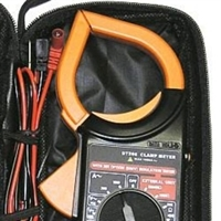 clamp meter-multimeter-digital meter with case more closeup