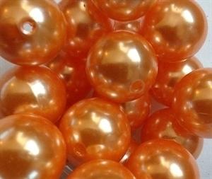 Picture of BD18R8  18mm ORANGE opaque round plastic beads