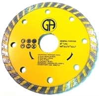 Picture of DB3757  4IN Turbo Saw Blade for General Purpose, Sintered. 7/8' - 5/8' Arbor