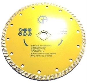 Picture of DB3768  7IN Turbo Saw Blade for General Purpose 7/8- 5/8' arbor