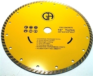 Picture of DB3771 10IN Turbo Sintered Saw Blade for Concrete