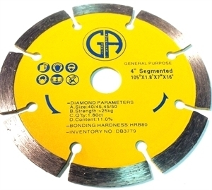 Picture of DB3779  4IN Segmented saw blade for General Purpose, 5/8' arbor
