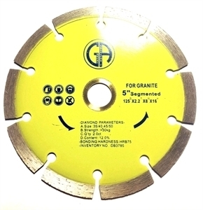 "Picture of DB3786  5IN Segmented saw blade for Granite 5/8 ""-7/8"" arbor"
