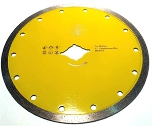 """Picture of DB3742 7"""" sintered, continuous, saw blade for marble  DKO-5/8"""" arbor"""