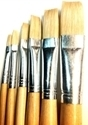 Picture of ART215  bristle hair paint brush 6pc set flat style
