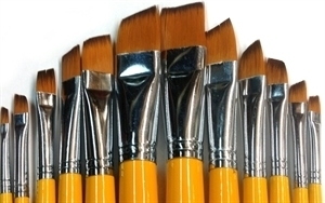 Picture of ART6112  Synthetic Hair Angular Style Paint Brush Set 12pcs