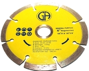 "Picture of DB249 4IN Segmented sintered for Granite arbor 5/8""-7/8"""