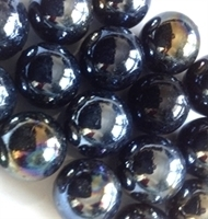 Picture of M59  16MM Black opal shiny glass marbles