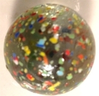 Picture of M228 25MM Transparent Clear Rolled In Colored Crushed Glass, Glass Marbles
