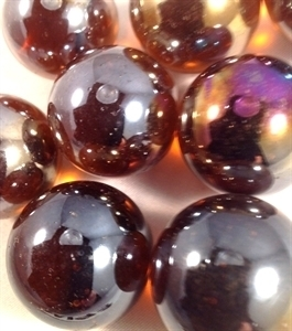 Picture of M193 25MM Amber Shiny Glass Marbles
